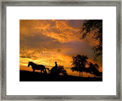 Slow Ride Framed Print by Adele Moscaritolo