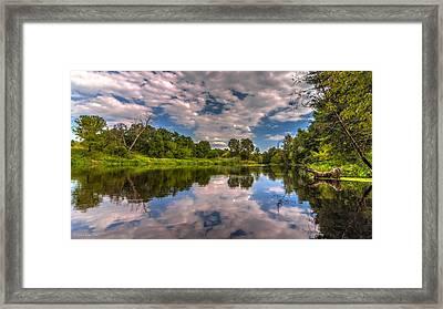 Slow River Reflections Framed Print