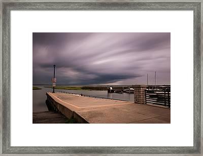 Slow Summer Storm Framed Print