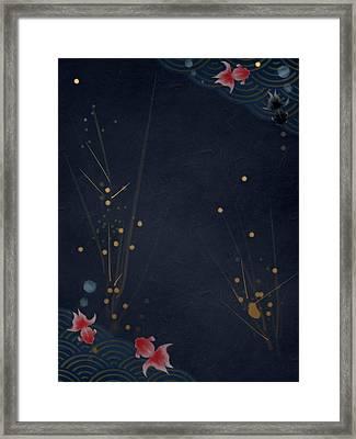Slow Swim Framed Print by Casey Shannon