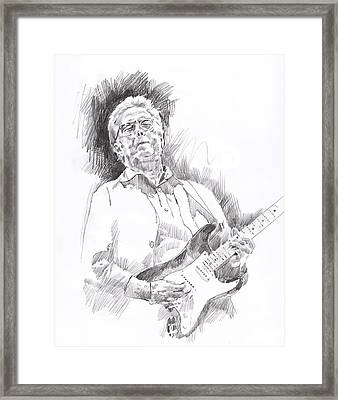Slowhand Framed Print by David Lloyd Glover