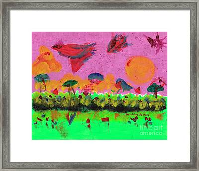 Slowing Down Time In The Sky  Framed Print