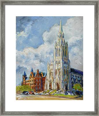 Slu - Grand And Lindell, Saint Louis Framed Print