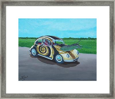 Slug Bug Framed Print by Gene Ritchhart