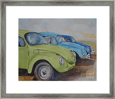 Slugbug Green Framed Print by Gretchen Bjornson