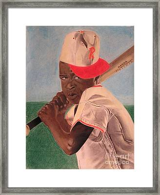 Slugger Framed Print by Wil Golden