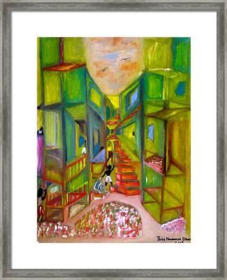 Slum Framed Print by Philip Okoro