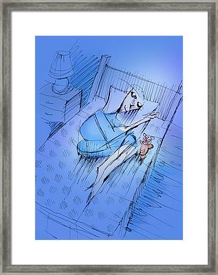 Framed Print featuring the drawing Slumber by Keith A Link