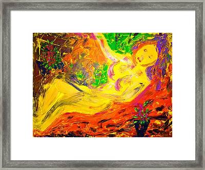 Slumber Framed Print by Piety Dsilva