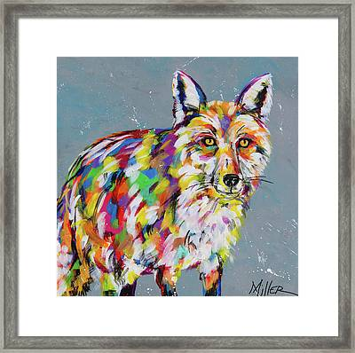 Sly Fox Framed Print by Tracy Miller