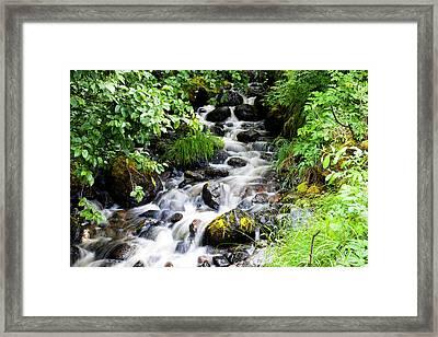 Small Alaskan Waterfall Framed Print