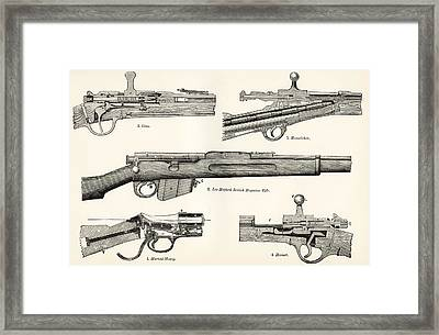 Small Arms. Firearms. 19th Century Framed Print by Vintage Design Pics