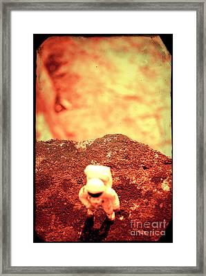 Small Astronaut #3 Framed Print