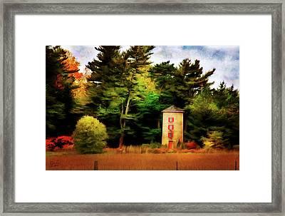 Small Autumn Silo Framed Print