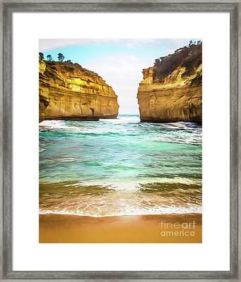 Framed Print featuring the photograph Small Bay by Perry Webster