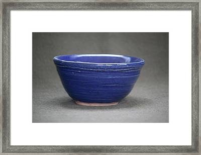 Small Blue Ceramic Bowl Framed Print by Suzanne Gaff