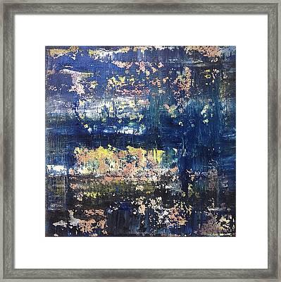 Small Blue Framed Print