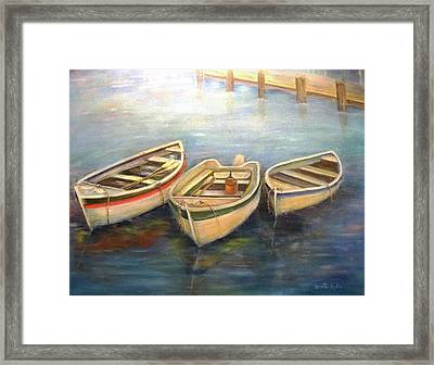 Small Boats Framed Print