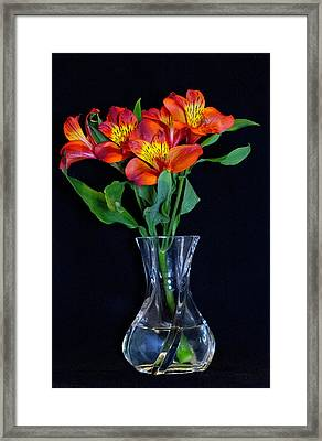 Small Bouquet Of Flowers Framed Print