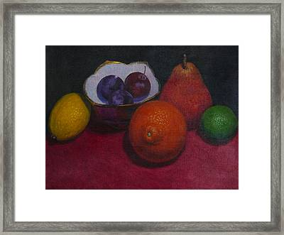 Small Bowl With Fruit Framed Print