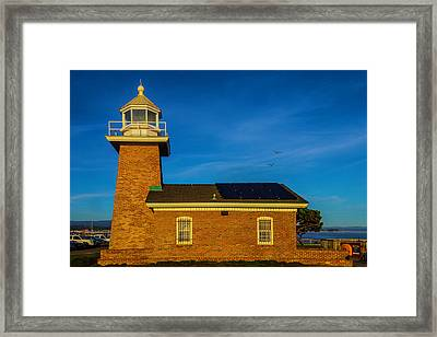Small Brick Lighthouse Framed Print by Garry Gay