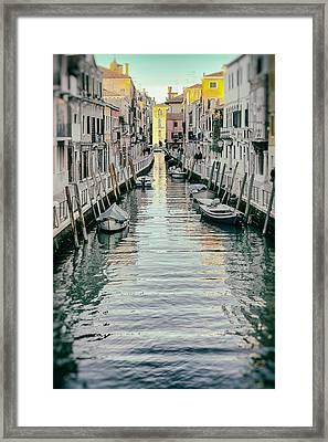 Small Canal In Dorsoduro Venice Framed Print by Paul Bucknall