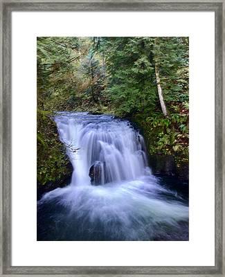 Small Cascade Framed Print