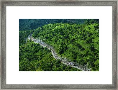 Small Casella Train Green Landscape Framed Print by Enrico Pelos