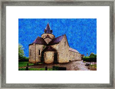 Small Church 4 Framed Print by Jean Bernard Roussilhe