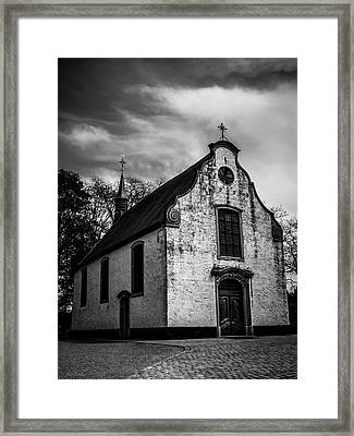 Small Church Framed Print by Wim Lanclus