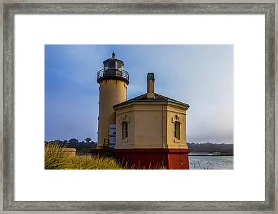 Small Coquile River Lighthouse Framed Print by Garry Gay