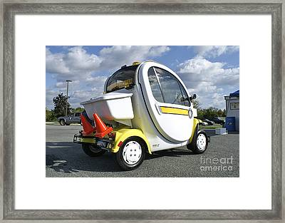 Small Electric Car For Traffic Framed Print by Blair Seitz