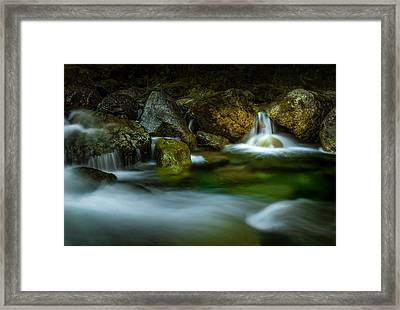 Small Falls In A Big Rush Framed Print