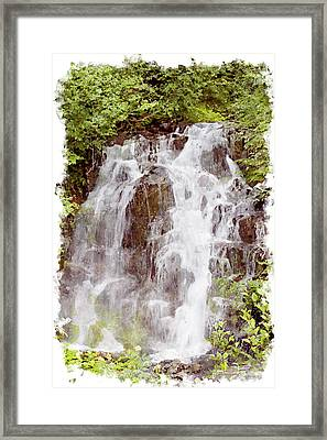 Small Falls On Mt. Ranier Framed Print by Peter J Sucy