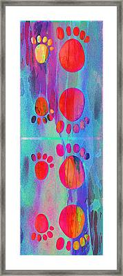 Small Feet And Big Feet 11 Framed Print by Jean Francois Gil
