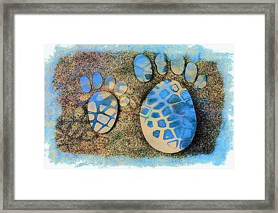 Small Feet And Big Feet 13 Framed Print by Jean Francois Gil