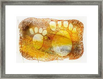Small Feet And Big Feet 14 Framed Print by Jean Francois Gil