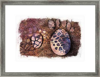 Small Feet And Big Feet 26 Framed Print by Jean Francois Gil