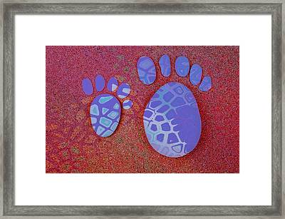Small Feet And Big Feet 27 Framed Print by Jean Francois Gil