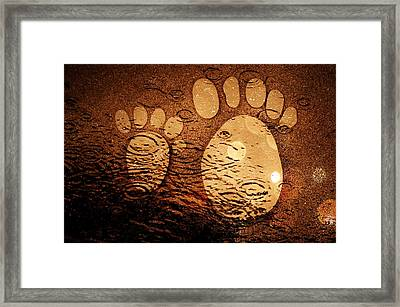 Small Feet And Big Feet 3 Framed Print by Jean Francois Gil