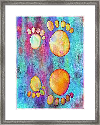 Small Feet And Big Feet 9 Framed Print by Jean Francois Gil