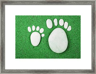 Small Feet And Big Feet 23 Framed Print by Jean Francois Gil