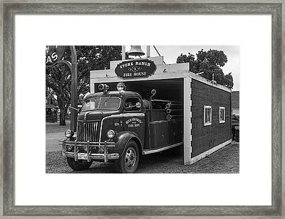 Small Fire House Framed Print by Garry Gay