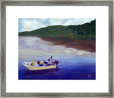 Small Fishing Boat Framed Print by Tony Rodriguez