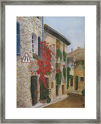 Small French Village Framed Print by Barbara Pascal