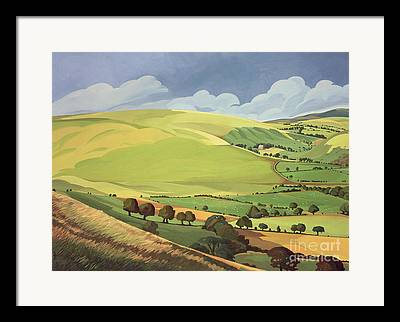 Grass Paintings Framed Prints