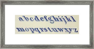 Small Italian Font Framed Print by English School