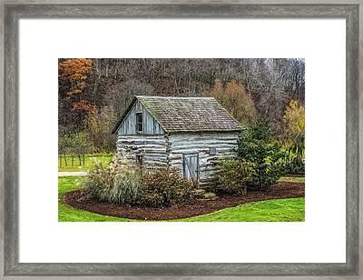 Small Log Cabin Framed Print