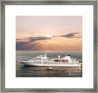 Small Luxury Cruise Ship Framed Print