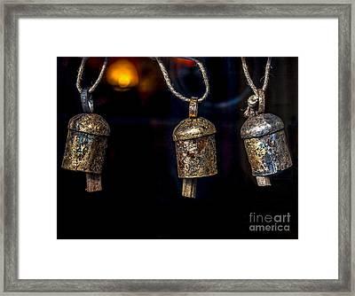 Small Metal Bells Framed Print by James Aiken